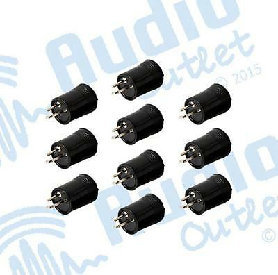 10 Pack of 2 Pin Male Din Plugs to suit Bang & Olufsen & Sonab Speakers (DP2S)