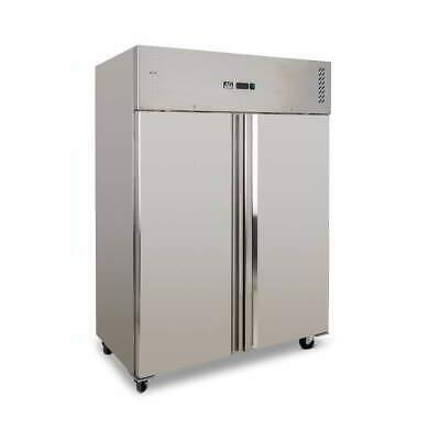 Upright Commercial Freezer 1200 Liters Secop Compressor Stainless Steel
