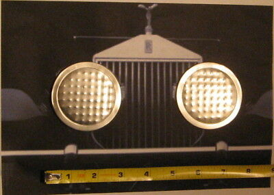 Pair Vintage Funky Aluminum Simulated Toy Pedal Car Headlights Parts