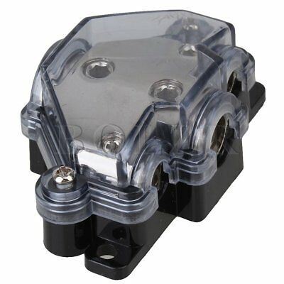 Car Audio 3 Ways Power Distributor Block Fuse Holder Black Distribution Block