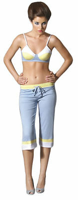Morris Costumes Women's Loose Fitting Low Cropped Dove Pants Blue M. SV7188BMD