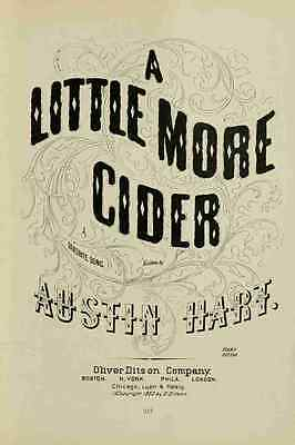 A4 Photo Unknown Ye Old Time Songs 1905 A Little more Cider Print Poster