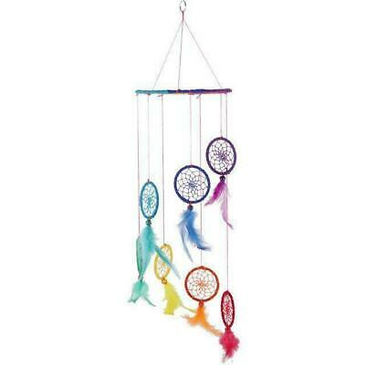 Multi WEB Spiral Effect RAINBOW Dreamcatcher Hanging Mobile Native American NEW