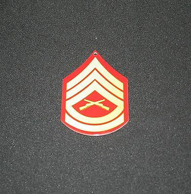 USMC ENLISTED RANK METAL SIGN MAGNET E-7, IN COLOR- MCCOLOR MAG E7  - PhotoSTEEL