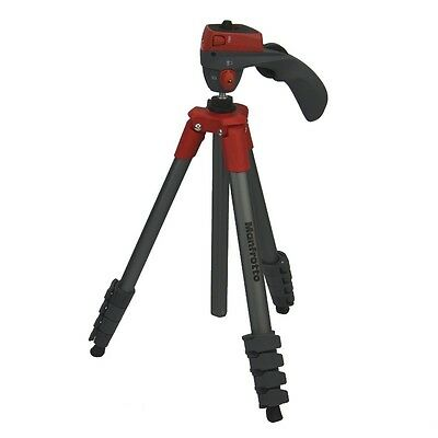 Manfrotto MKCOMPACTACN-RD Compact Action Rot Alu mit Tasche tripod dslr stand