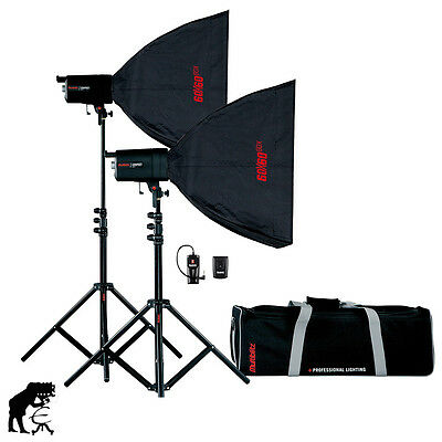 Multiblitz COMPACT PLUS MKII KIT 2x200Ws inkl. Softboxen,Stative,Tasche,Trigger