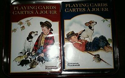 Norman Rock Playing Cards ! Never OPENED ! IN TIN CASE UNDENTED