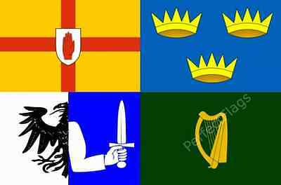 IRELAND 4 PROVINCES FLAG - IRISH NATIONAL FLAGS - Hand, 3x2, 5x3 Feet
