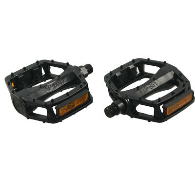 2 x MTB BMX Black Yellow Bike Bicycle Metal Platform Pedals