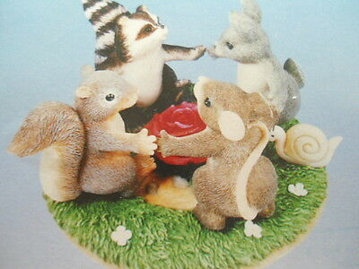 Fitz & Floyd Charming Tails Ring Around the Rosie Figurine 97/15 NEW in Box