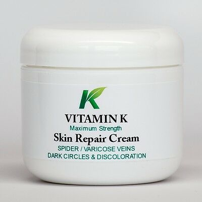 VITAMIN K CREAM - SPIDER VEINS, UNDER EYES, DARK CIRCLES, BRUISING, SCARS 2oz