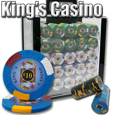 New 1000 Kings Casino 14g Clay Poker Chips Set with Acrylic Case - Pick Chips!
