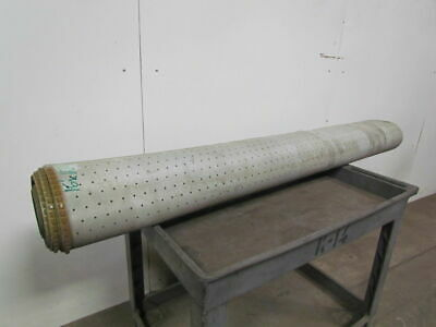 "2 Ply Green PVC Smooth Top Perforated Conveyor Belt 16Ft X 67-3/4"" 0.080"" Thick"