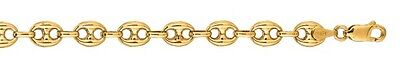 6bc76ffa9 14k Yellow Gold Puffed Anchor Mariner 6 Childrens link bracelet 4.7 MM 3  grams
