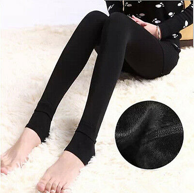 Women Lady Winter Thick and Warm Fleece Lined Thermal Stretchy Leggings Pants