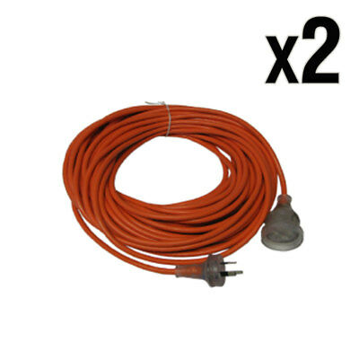 20 Meter 10 Amp Extension Lead Cord pk2 suits most vacuum cleaner