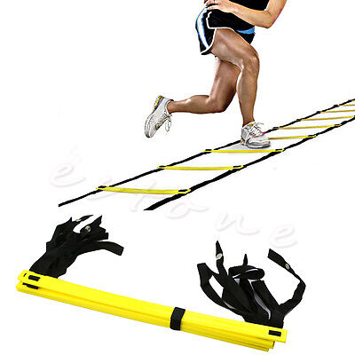 5-Rung Agility Ladder For Soccer Speed Football Fitness Feet Training New