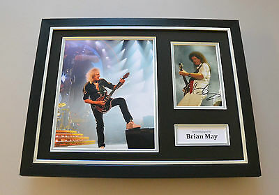 Brain May Signed Framed 16x12 Photo Queen Guitar Autograph Display Memorabilia