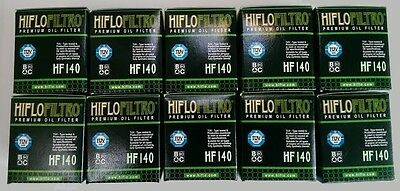 Yamaha WR450F (2009 to 2018) HifloFiltro OE Quality Oil Filter (HF140) x 10 Pack