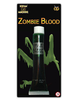 Green Zombie Vampire Fake Blood Make-Up Halloween Theatrical Fancy Dress