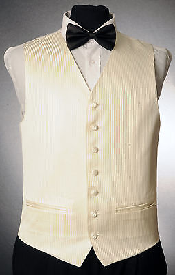 W - 1053.mens And Boys Gold Pin-Stripe Waistcoat Wedding/ Dress/ Formal