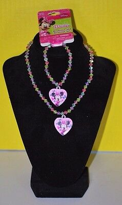 Disneyland Minnie Mouse Charm Bracelet & Necklace GIRLS JEWELRY BIRTHDAY GIFT ST