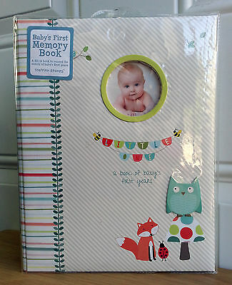 CR Gibson Woodland Owl Fox Gender Neutral Boy Girl Baby Memory Keepsake Book