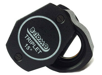 "BelOMO 15x Triplet Loupe Magnifier. 9mm (.35"") NEW. BRAND.  Jewelry Instrument"