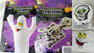 Haunted House Novelty Halloween Inflatable Ghost Or Skeleton Decoration