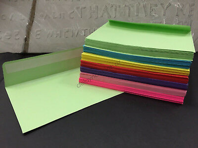 125 Coloured Envelopes C6 Red Pink Blue Green Yellow Purple Hot Pink Invitations