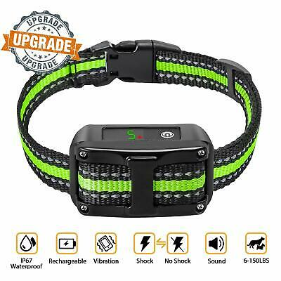 Anti Barking Collar Rechargeable Dog No Bark Waterproof Humane Training NO PAIN