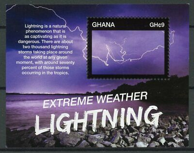 Ghana 2015 MNH Extreme Weather Lightning 1v S/S