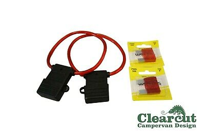 2 x Maxi Fuse Holders & 50 amp Fuses, Suits Camper Split Charging Installation