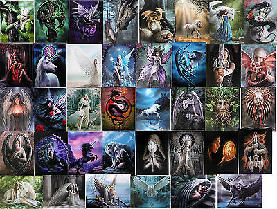 Anne Stokes Large Selection Gothic Art Wall Canvas Print Fantasy Dragon 25 x19cm