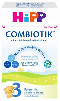 HIPP Bio Combiotic 3-Infant Milk Baby Formula 600g (1,2 or 3),German product