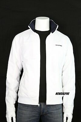 NWT TOMMY HILFIGER Men's Water Resistant Windbreaker Jacket White with TH Logo