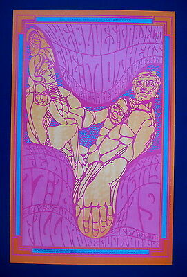Psychedelic poster Fillmore #50 Mothers of Invention 1967 mint