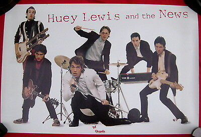 Huey Lewis 1980 debut advertising poster mint condition
