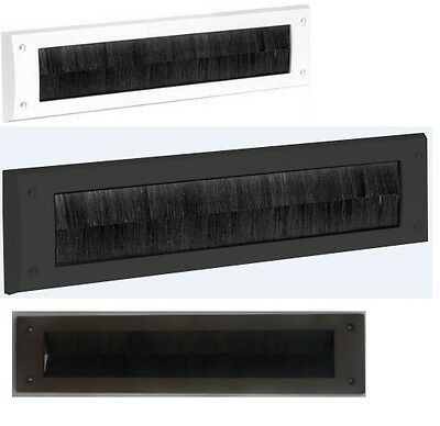 Door Letter Box Plate Seal Internal Bristle Brush / Cover Draught Excluder
