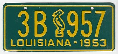 [55924] 1953 General Mills Cereal Prize Louisiana License Plate (Pelican)