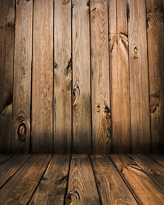 Wood Wall Studio Backdrop Vinyl Photography Photo Background 5x7ft WOOD1