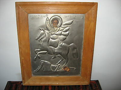 Antique Greek icon of St. Demetruis  (19th century)