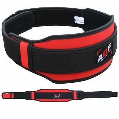 AQF Weight Lifting Belt Gym Training Back Support Neoprene Lumber Pain Fitness R