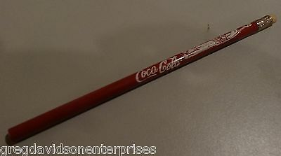 Red Coca Cola Pencil w/ White Eraser Vintage Unused