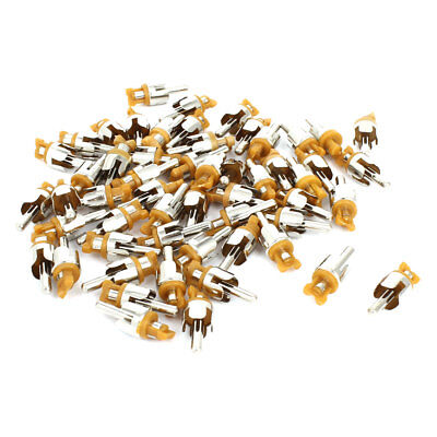55 x PCB Mount AV Male Adapter RCA Connector Orange Silver Tone Replacement