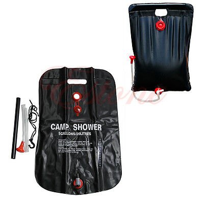 Handy Outdoor Solar Heat Shower Bag Storage Water Carrier Wt Thermometer 20L