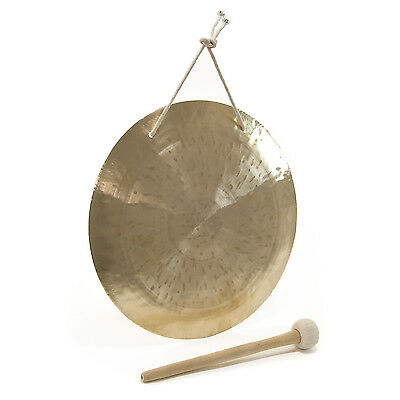 "New 14"" Gong & Beater with Hanging Strap by Gear4music"
