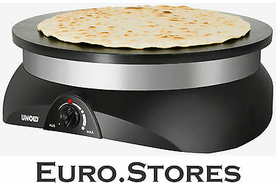 Unold 48155 Crepes Maker Pro Extra Large Pancakes Black 1250W GENUINE NEW