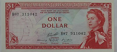 ND (1965) East Caribbean Currency $1 Dollar CU Uncirculated Note; P# 13e