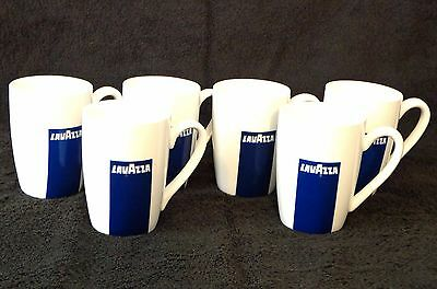 Set Of 6 Lavazza By Oneida Porcelain Coffee Mugs Cappuccino Cups Discontinued